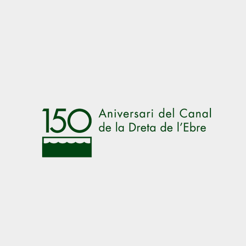 Corporate identity 150th Anniversary Right channel of the Ebro