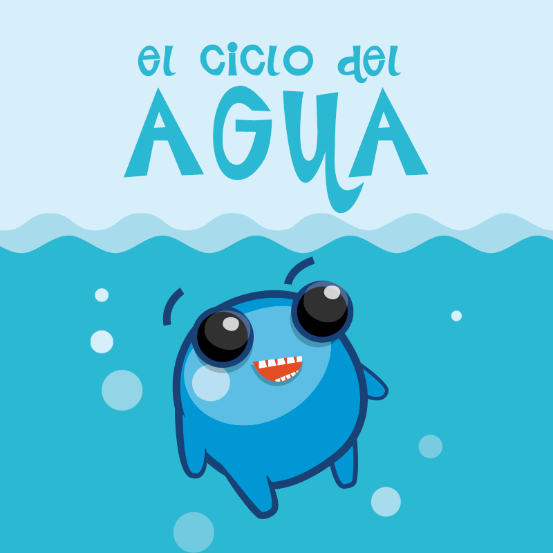 Didactic video for Riegos del Alto Aragón. Water cycle for childs.
