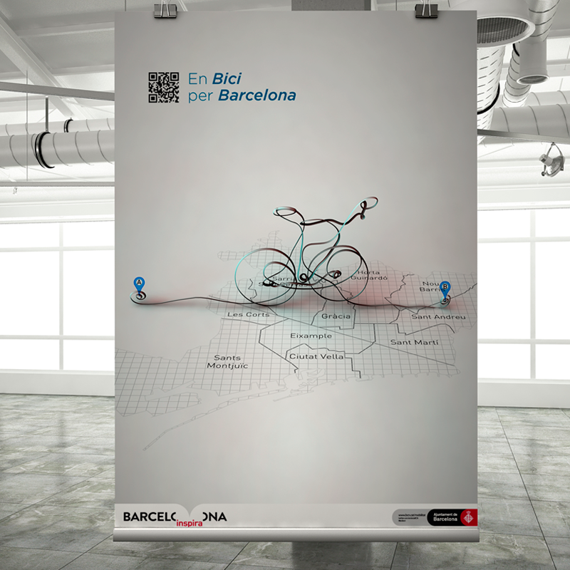 Integrated campaign for bikes events in Barcelona