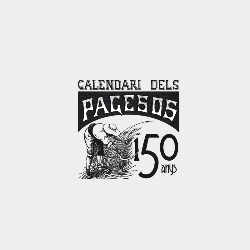 150th anniversary logo design for Calendari dels pagesos